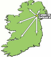 Map of Ireland - Where we are located